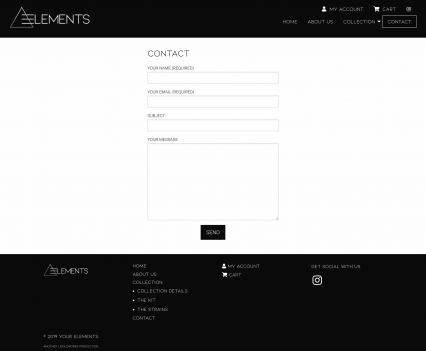 Your Elements contact page - Liddleworks