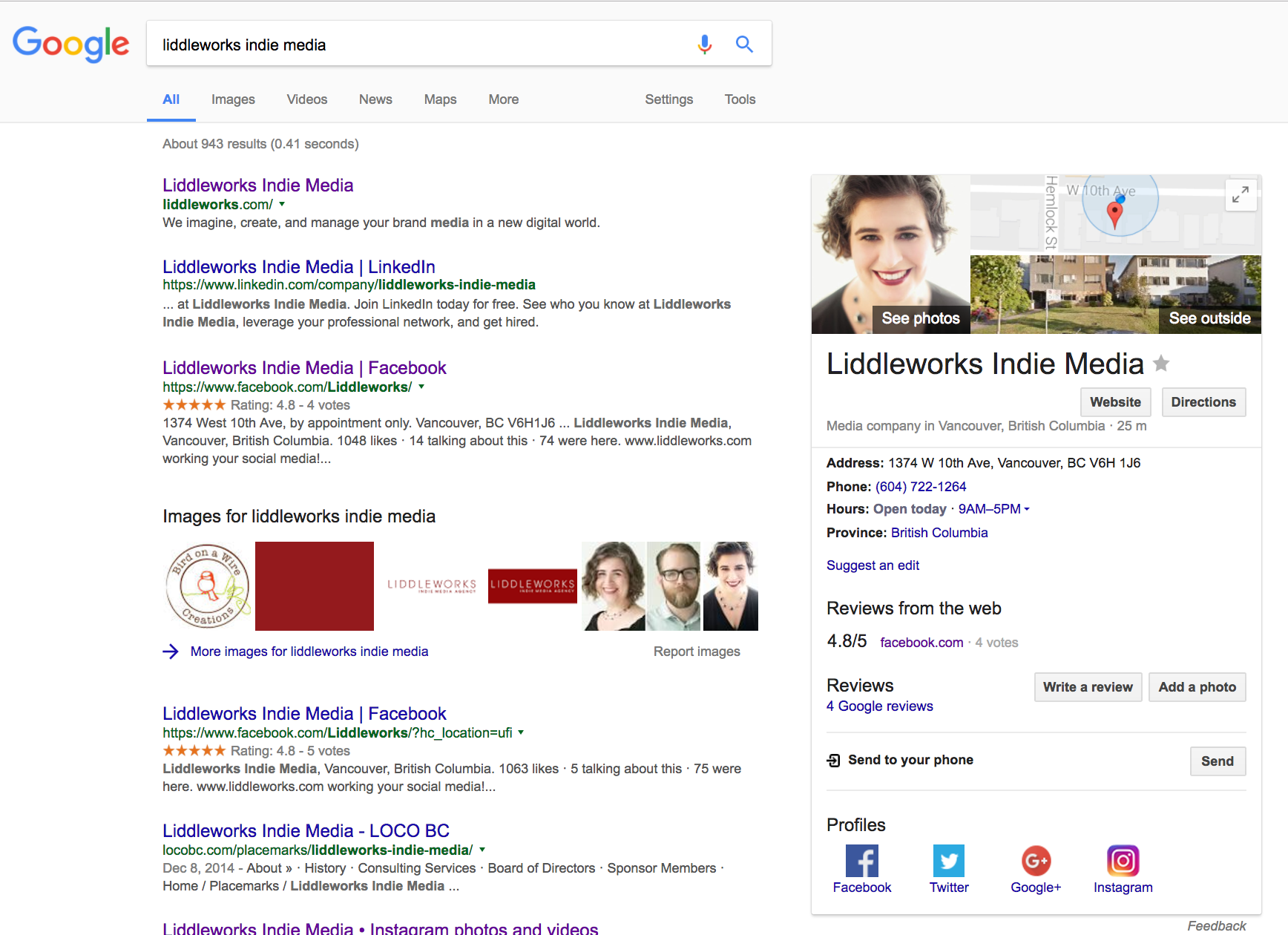 add social profile buttons to your Google Business listing
