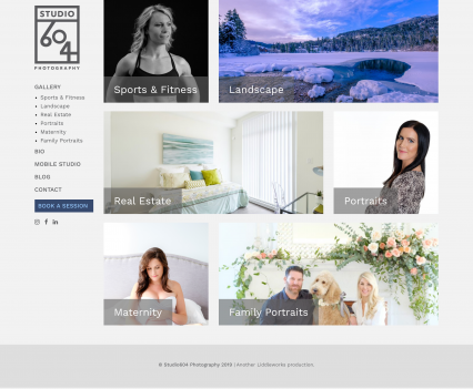 Studio 604 Photography home page - Liddleworks