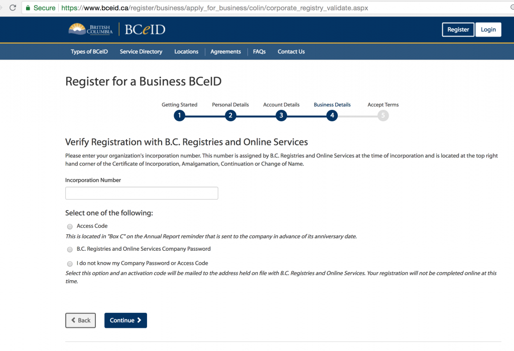 Apply for the BCecID 13