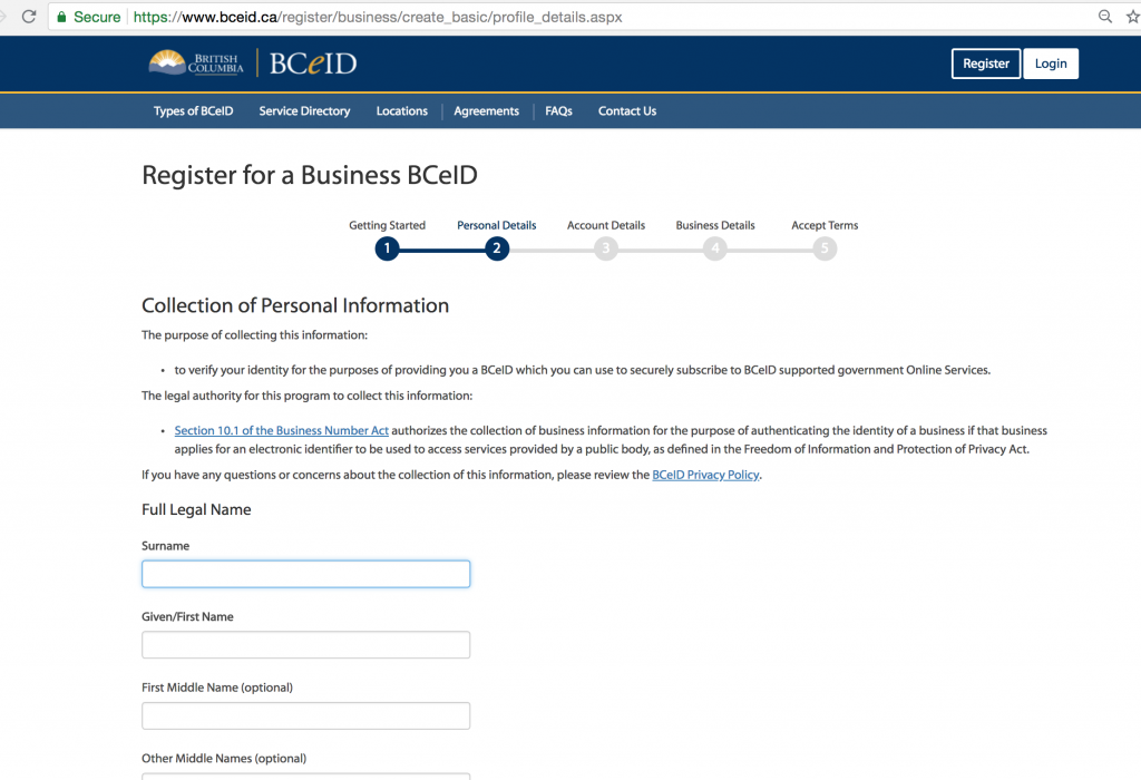 Apply for the BCecID 9