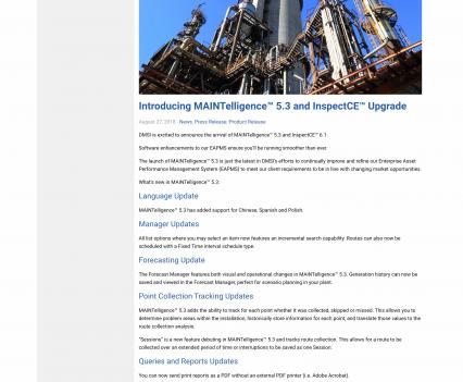 DMSI blog page - Liddleworks