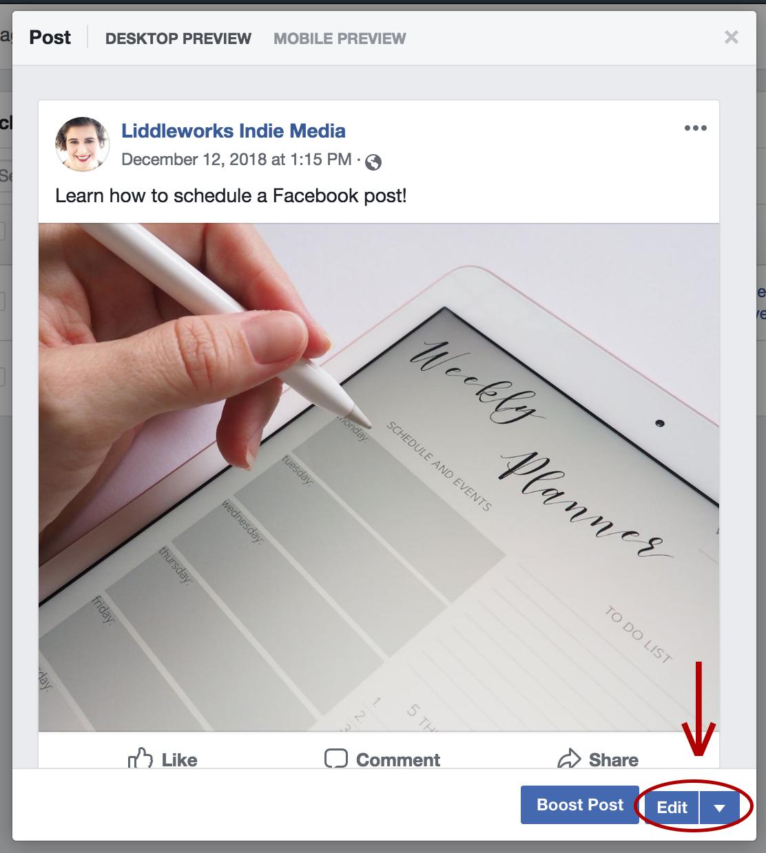 Tech Tip: Scheduling Facebook Posts | Liddleworks