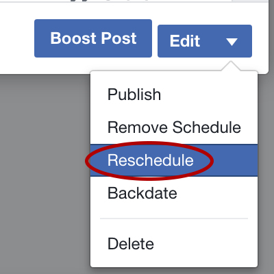 Liddleworks Tech Tip How to Edit a Scheduled Facebook Post