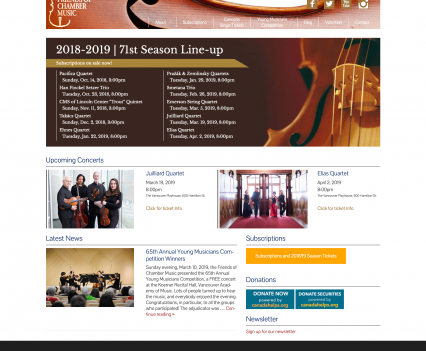Friends of Chamber Music home page - Liddleworks