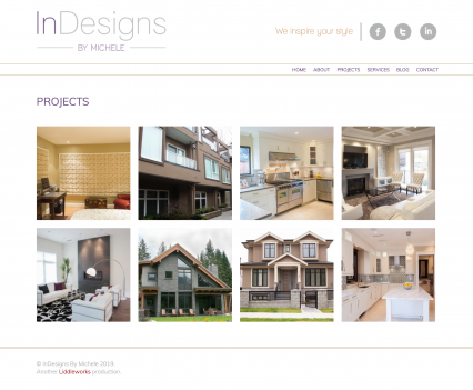 Indesigns by Michele projects page - Liddleworks