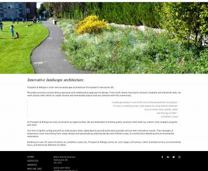 Prospect & Refuge home page - Liddleworks