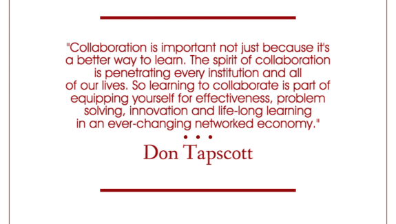 Quote on collaboration by Don Tapscott